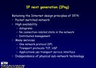 IP next generation (IPng) - Communication Systems Group