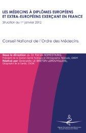 Les médecins à diplômes européens et extra-européens exerçant ...