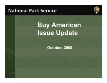 Buy American Initiative - National Park Service Concessions Program