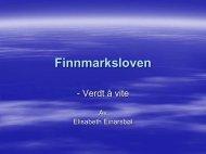 Finnmarksloven - Verdt å vite av Elisabeth Einarsbøl