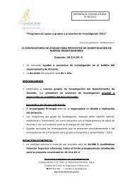 ii convocatoria nuevos investigadores-2011 - Agencia Valenciana ...