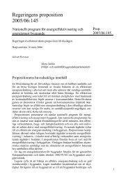 Nationellt program för energieffektivisering och ... - Regeringen