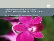 Expressing the Scholarly Works (Eprints) - Dublin Core® Metadata ...
