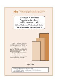 The Impact of the Global Financial Crisis on Rural and Microfinance ...