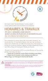 HORAIRES & TRAVAUX - Transilien