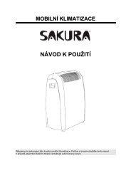 Návod MOBILNÍ KLIMATIZACE - Topzarice.cz