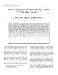 Influence of clearcut logging, flow duration, and season on ... - BioOne