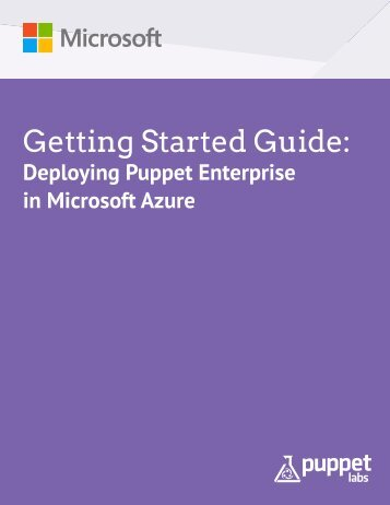 Getting-Started-Guide-Puppet-Enterpise-Azure