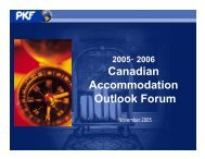 2006 Canadian Accommodation Outlook Forum - PKF Consulting