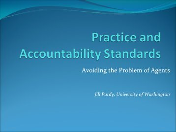 Developing Practice Standards and Accountability Measures for ...