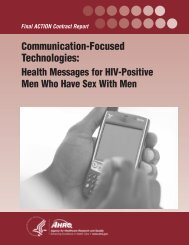 Communication-Focused Technologies: Health ... - RTI International