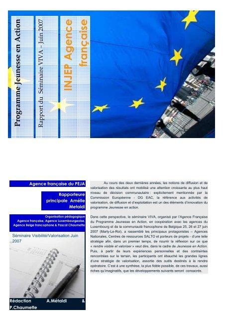 Rapport Valorisation - Injep
