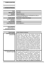 curriculum vitae - IZS della Lombardia e dell'Emilia Romagna