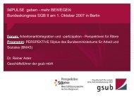 IMPULSE geben - mehr BEWEGEN Bundeskongress SGB II am 1. Oktober ...