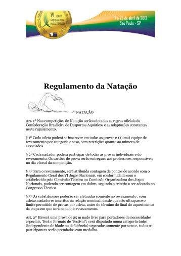 Regulamento da Natação - AMB