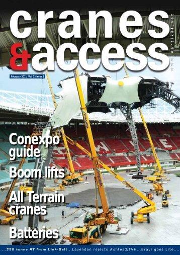 Boom lifts All Terrain cranes Batteries Conexpo guide