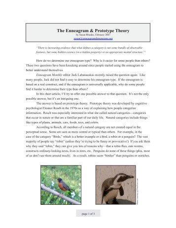 The Enneagram & Prototype Theory - Enneagram Dimensions