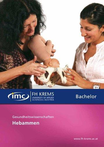 Folder - Bachelor - Hebammen - IMC Fachhochschule Krems GmbH