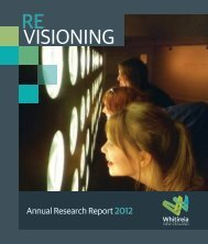 Revisioning_Annual Research Report_2012.pdf - Whitireia ...