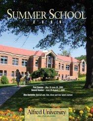 Summer School Schedule Booklet - Alfred University