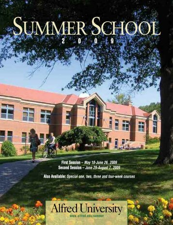 Summer School Schedule Booklet - Alfred University
