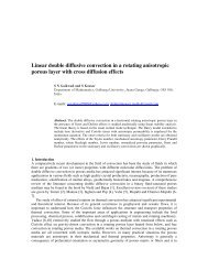 Linear double diffusive convection in a rotating anisotropic porous ...
