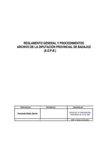 Documento Completo - Diputación de Badajoz