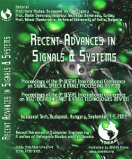 recent advances in signals and systems - Wseas.us