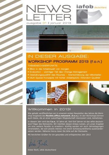 f.o.n. - Workshop Programm 2013 - iafob deutschland