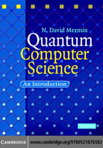 Quantum Computer Science: An Introduction - RIPHAH ...