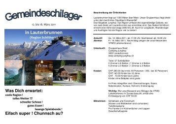 in Lauterbrunnen - FMG Lausen