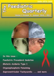 Volume 2 no. 4, 2010 - The Paediatric Quarterly
