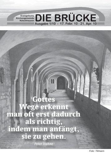 17. Februar 10 - Kirchengemeinde-koelschhausen.de