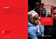 i minori stranieri in italia - Save the Children Italia Onlus