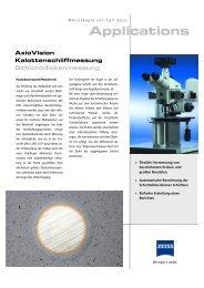 AxioVision: Kalottenschliffmessung - Carl Zeiss