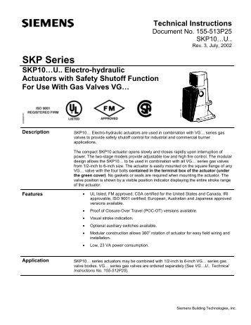 Skp Series Technical Instructions Power Equipment Company