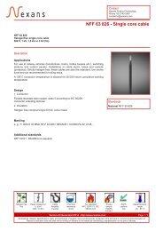 NFF 63 826 - Single core cable - Nexans