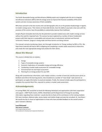 MODULE 1 Energy - REEEP Toolkits