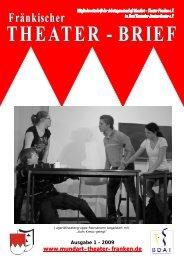 Theater-Brief 1-2009