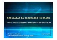 REGULAÇÃO DA COGERAÇÃO NO BRASIL - Cogen