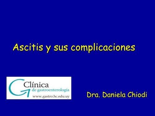 Ascitis y sus complicaciones