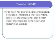 Process Modeling in lmplementation Research - ICEBeRG - GReBECI