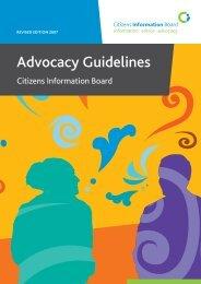 CIB Advocacy Guidelines 2007 - Citizens Information Board
