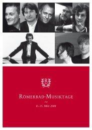 beginn 17.30 uhR - Hotel Römerbad