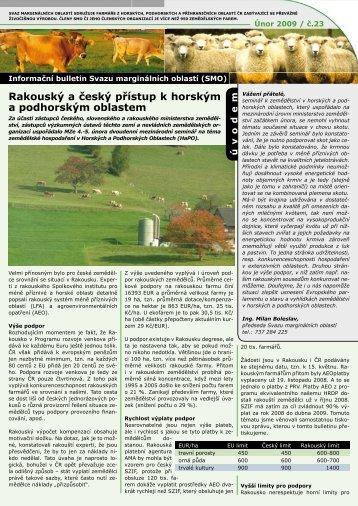 Informační bulletin - Svaz marginálních oblastí