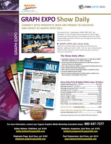 Official Show Daily - The GRAPH EXPO 2011