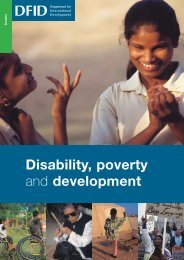 Disability, poverty and development - Handicap International