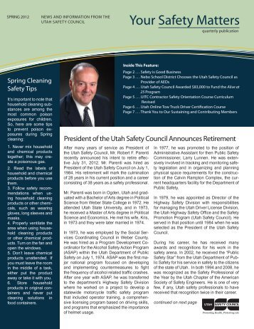 Your Safety Matters - Utah Safety Council