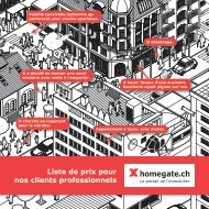 Liste de prix pour nos clients professionnels - Myhomegate.ch