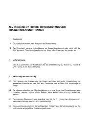 alv reglement für die unterstützng von trainerinnen und trainer